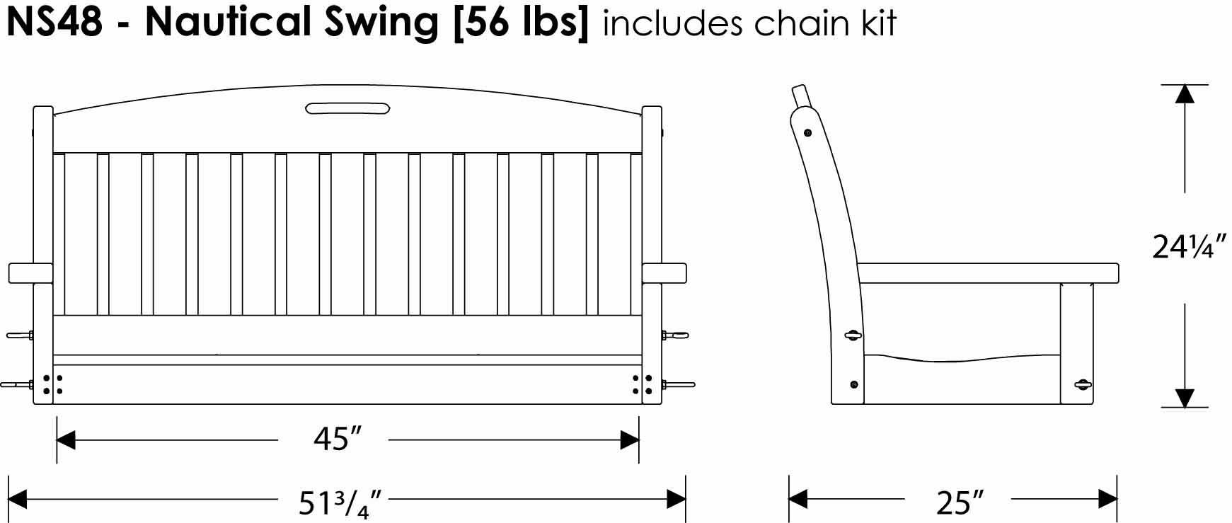 Polywood Porch Swing | Polywood Nautical Swing | Allbackyardfun Inside Nautical Porch Swings (View 22 of 25)