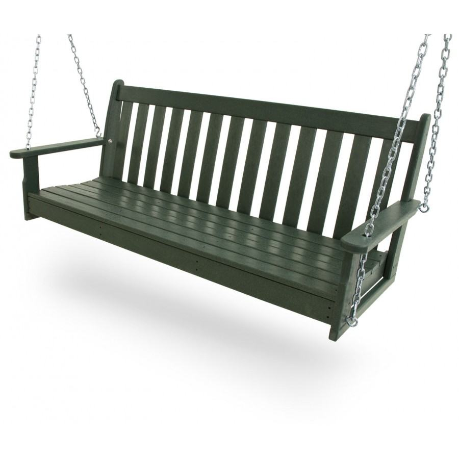 Polywood® Vineyard 60 Porch Swing For Outdoor FurnitureYacht Club 2 Person Recycled Plastic Outdoor Swings (View 20 of 25)