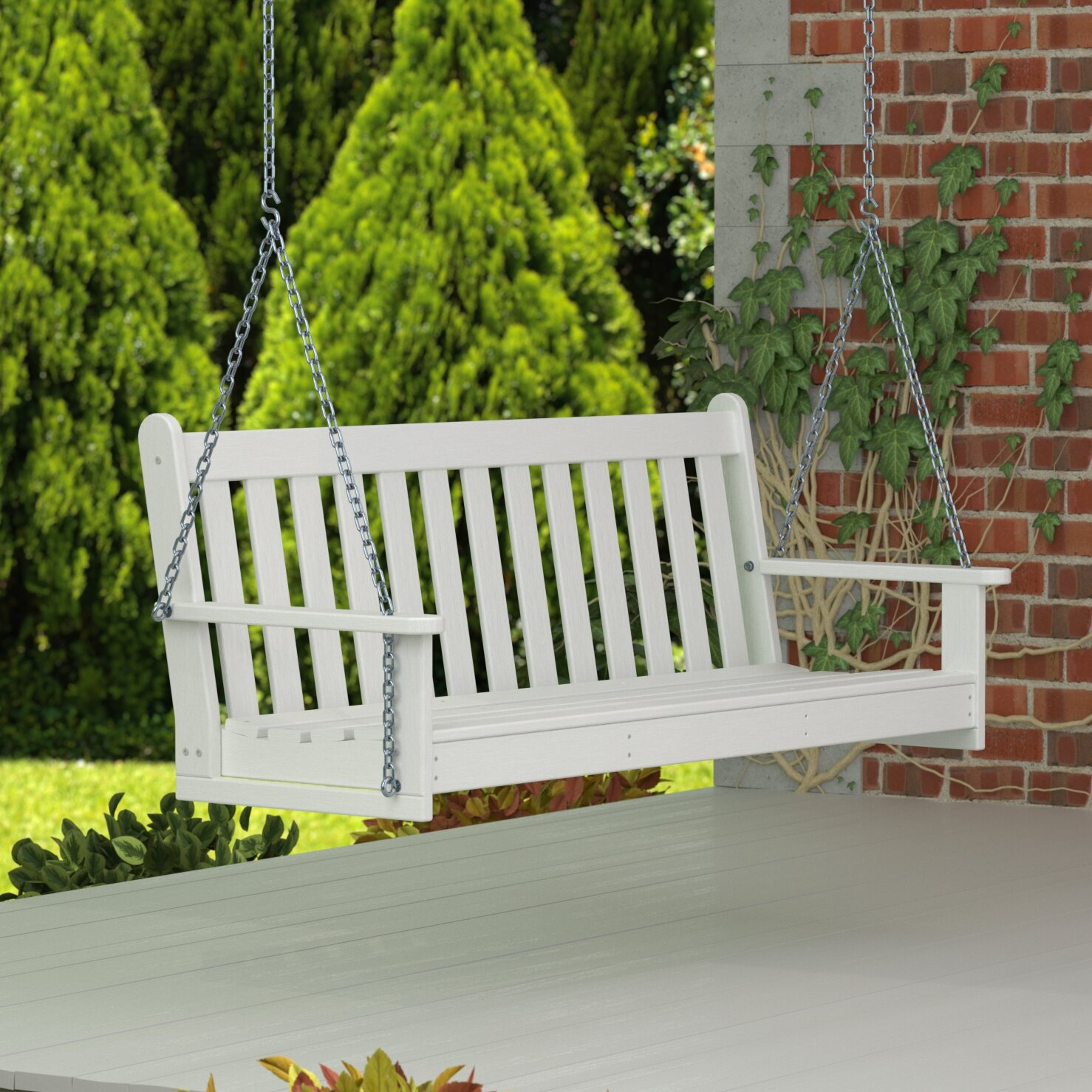 "Polywood® Vineyard 60"" Swing & Reviews 