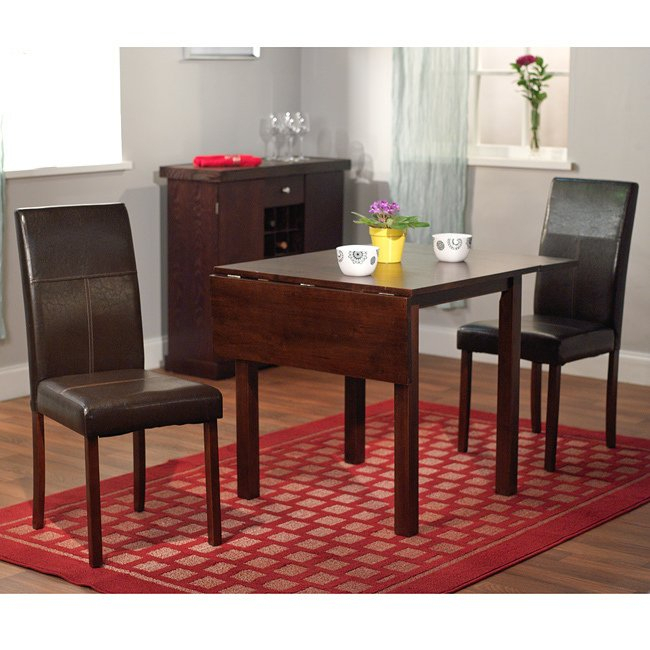Porch & Den Third Ward Scott Drop Leaf 3 Piece Dining Set Within Transitional 3 Piece Drop Leaf Casual Dining Tables Set (View 24 of 25)