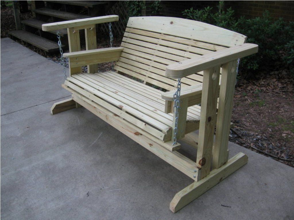 Featured Image of Hardwood Porch Glider Benches