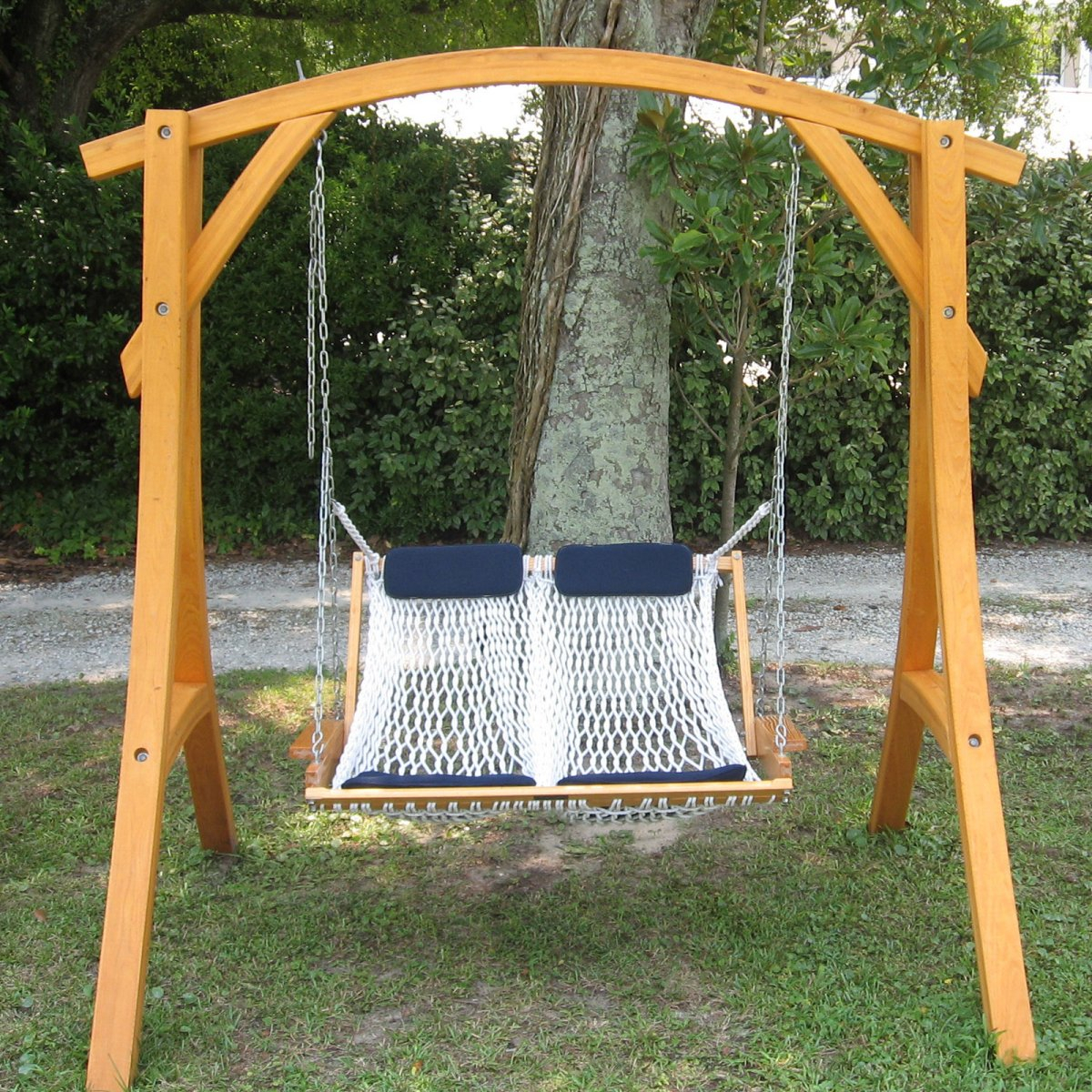 Porch Hammock Swing Ideas | Myhappyhub Chair Design Inside Patio Loveseat Canopy Hammock Porch Swings With Stand (Image 23 of 25)
