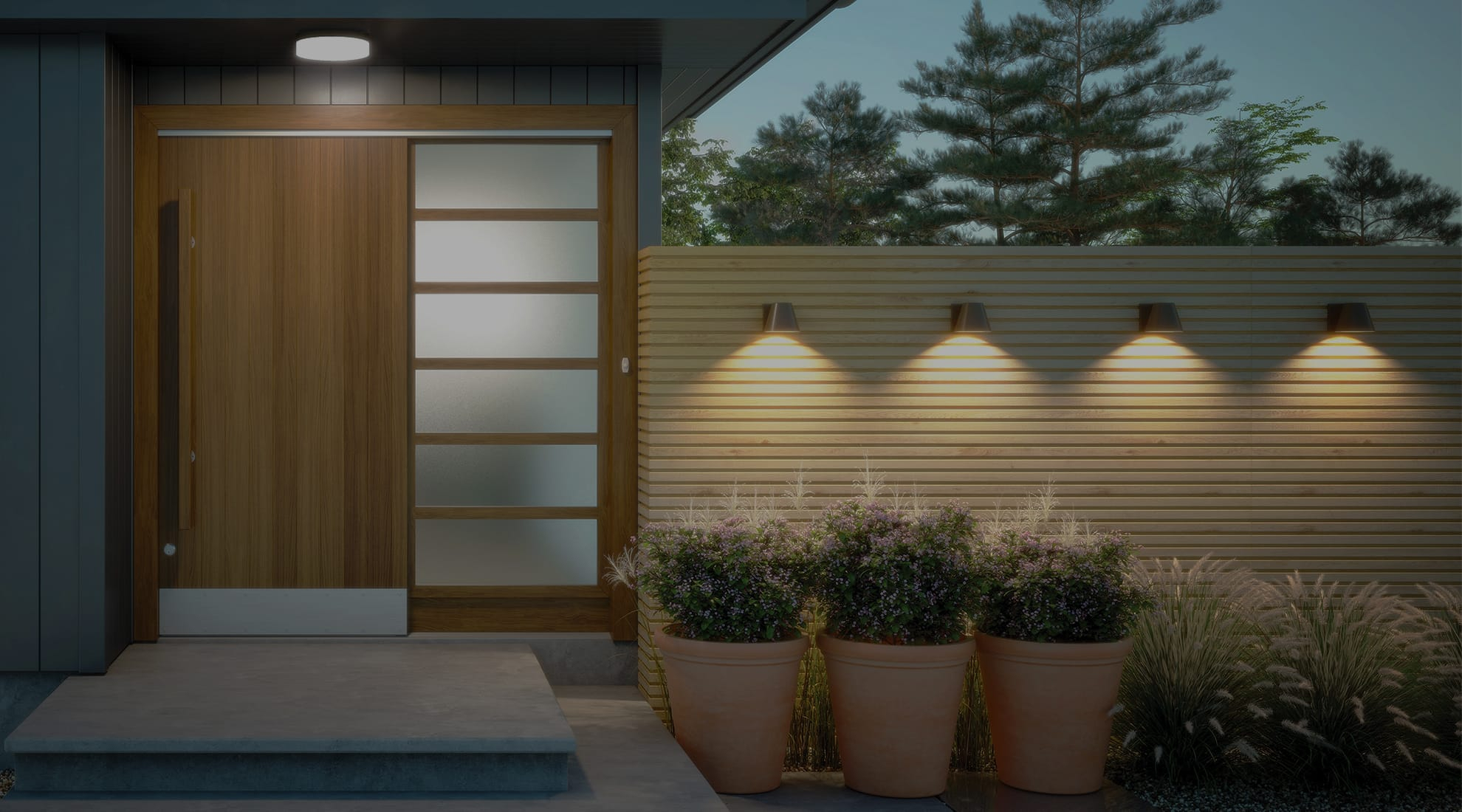 Porch Lighting Ideas | Modern Front Porch Lighting Advice At Throughout Lamp Outdoor Porch Swings (View 21 of 25)