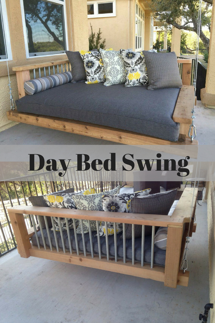 Porch Swing Bed – Chaise Lounge Chair – Day Bed Swing Intended For Day Bed Porch Swings (Image 19 of 25)