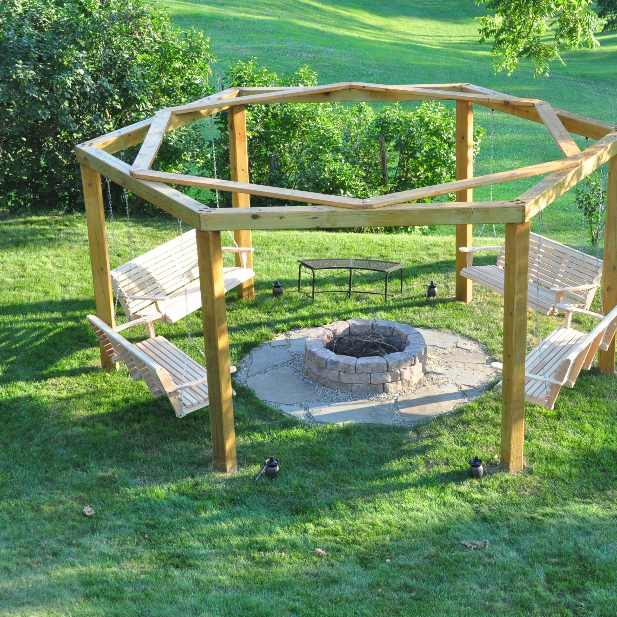 Porch Swing Fire Pit : 12 Steps (With Pictures) – Instructables Throughout Patio Gazebo Porch Swings (View 20 of 25)