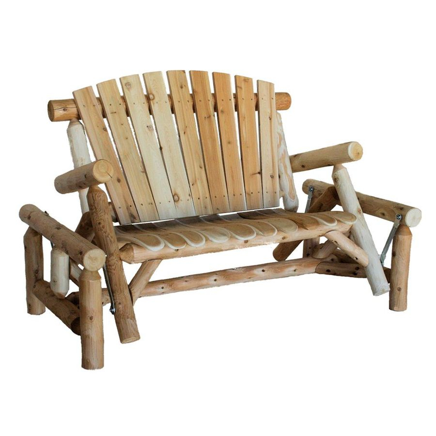 Porch Swings & Gliders At Lowes In 2 Person Natural Cedar Wood Outdoor Gliders (Image 18 of 25)
