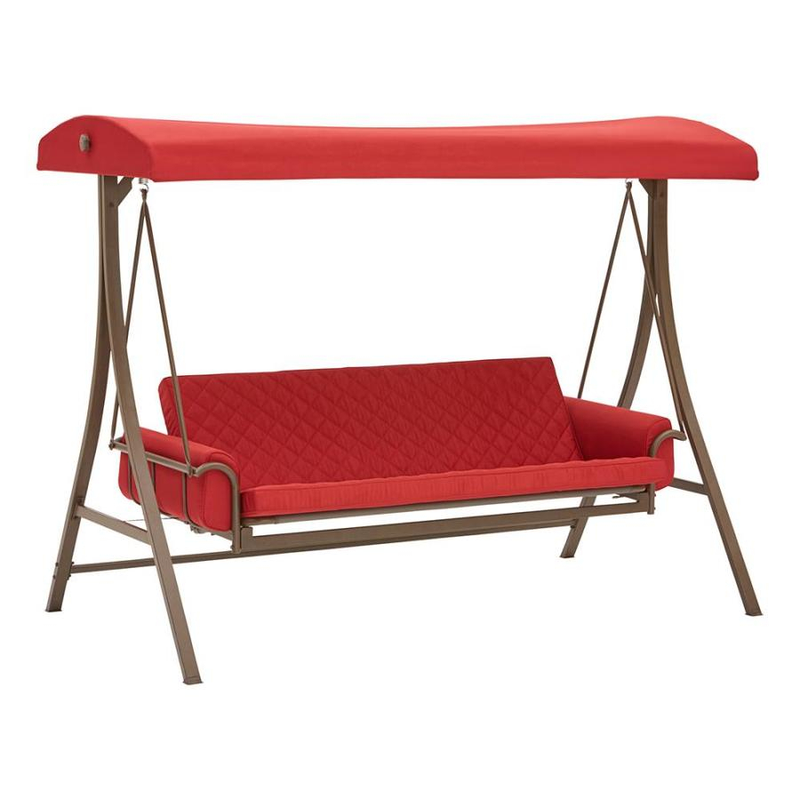 Porch Swings & Gliders At Lowes Pertaining To Canopy Patio Porch Swings With Pillows And Cup Holders (View 6 of 25)