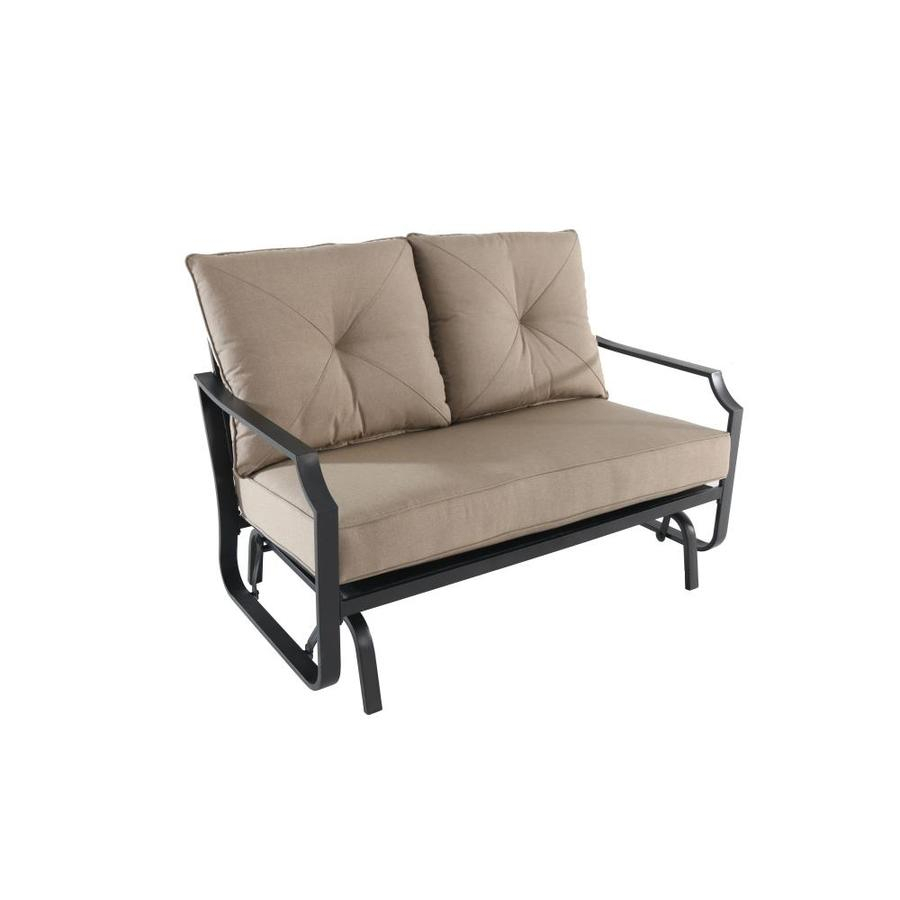 Porch Swings & Gliders At Lowes Within 2 Person Hammered Bronze Iron Outdoor Swings (View 21 of 25)