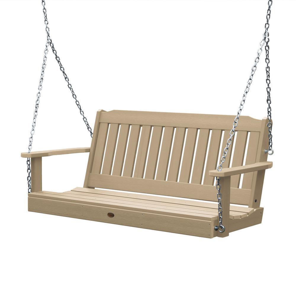 Porch Swings – Patio Chairs – The Home Depot Within 2 Person White Wood Outdoor Swings (View 10 of 25)