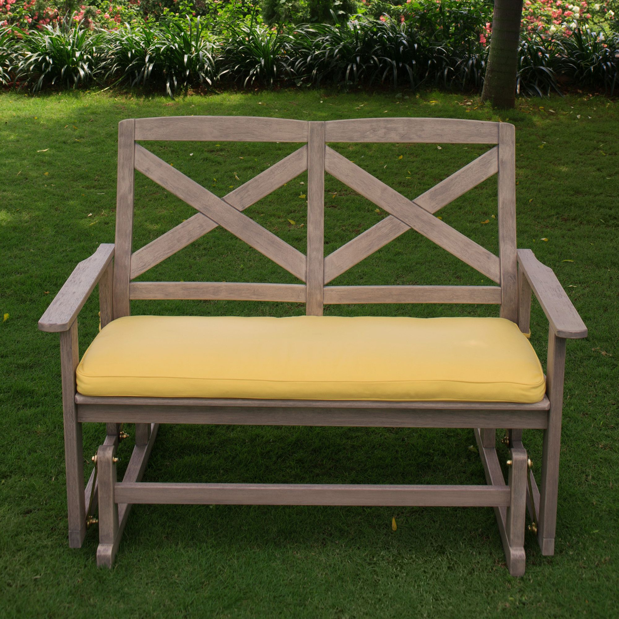 Porto Glider Bench With Cushions | Products | Patio Rocking Regarding Glider Benches With Cushions (View 2 of 25)