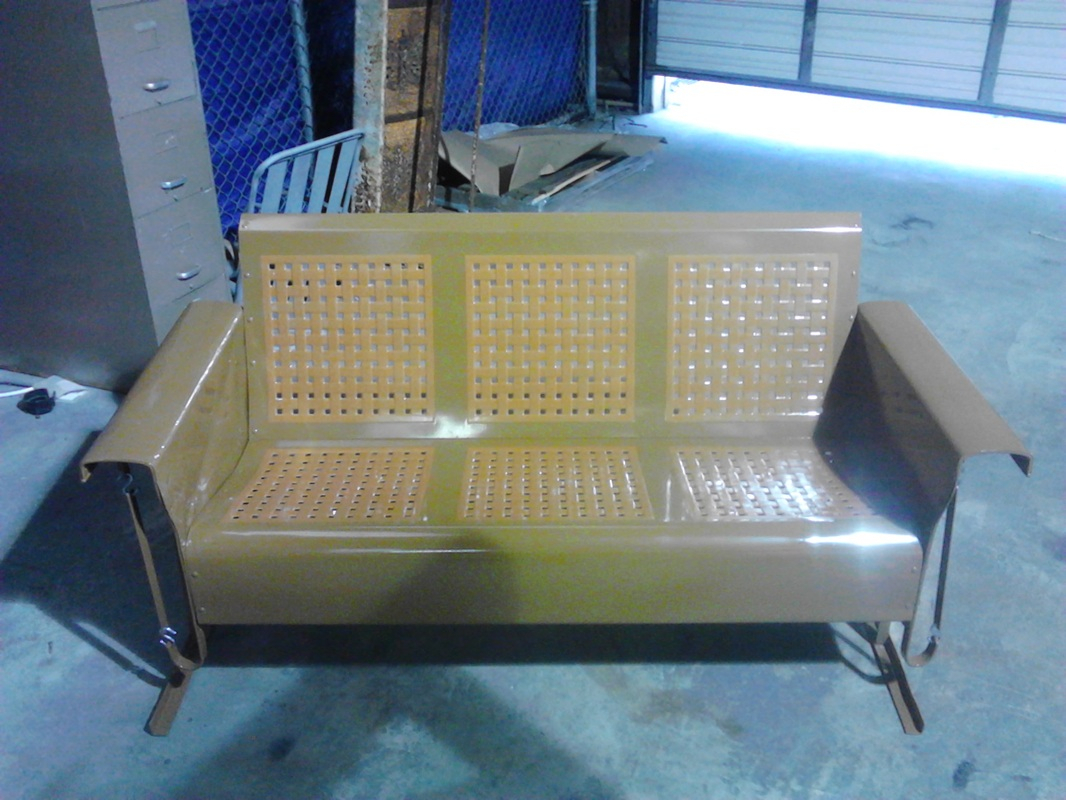 Powdercoated Restored Vintage Metal Patio Gliders – Vintage Intended For Classic Glider Benches (View 21 of 25)