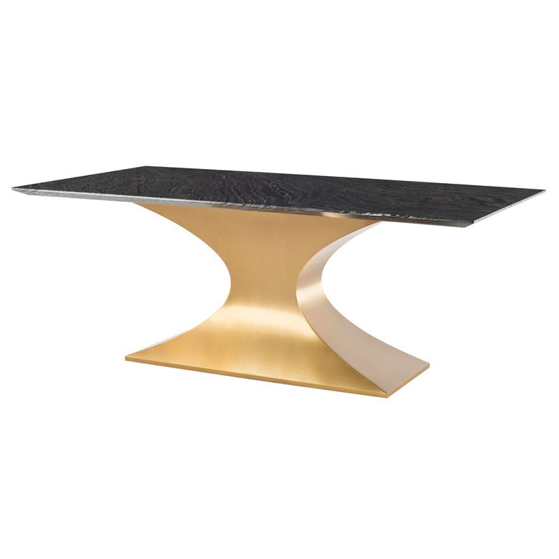 Praetorian – Nuevo Regarding Dining Tables With Brushed Gold Stainless Finish (Image 23 of 25)
