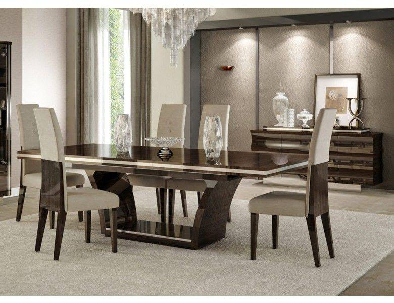 Pretty Modern Dining Room Collections Stylish Contemporary Intended For Contemporary 4 Seating Square Dining Tables (View 15 of 25)