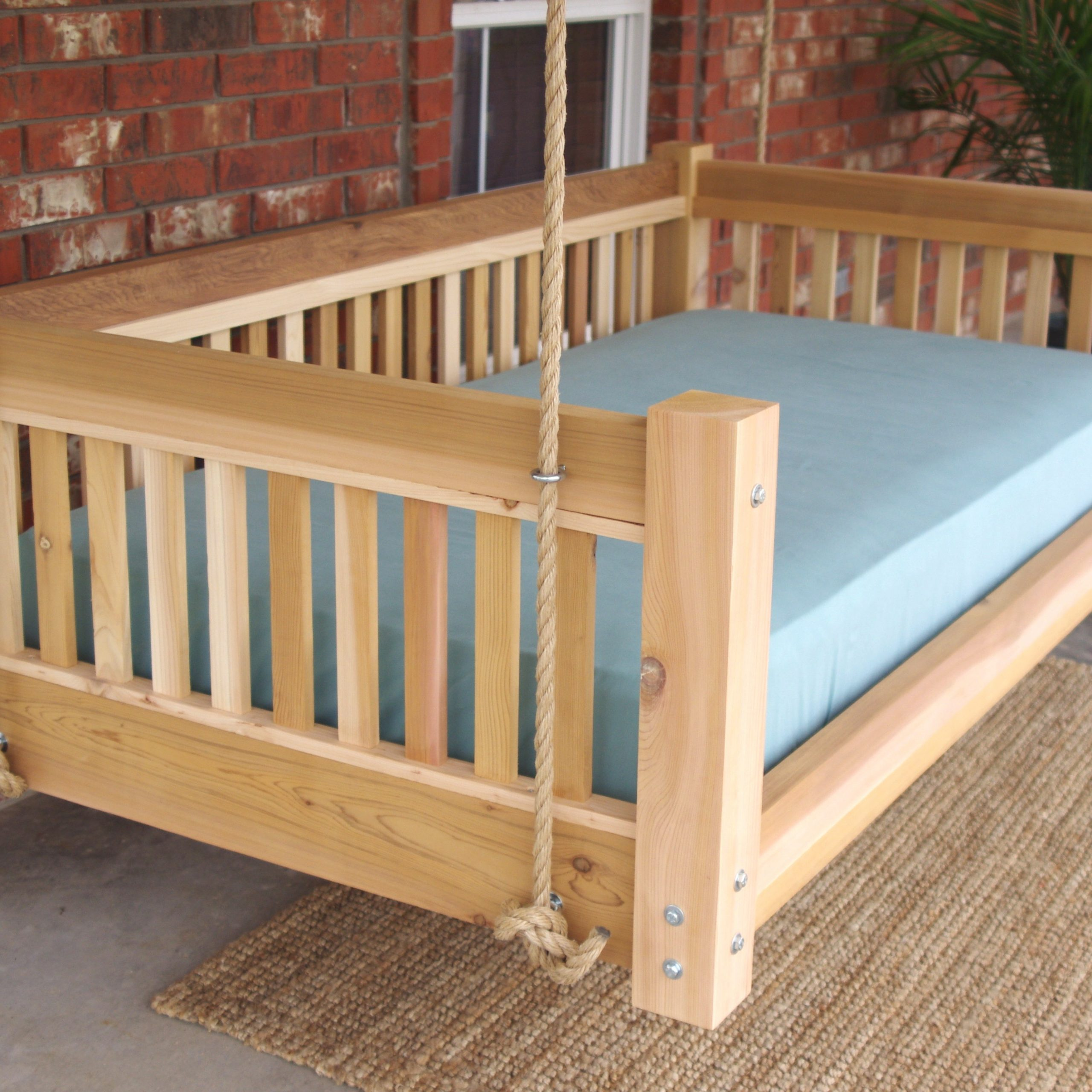 Promising Hanging Day Bed Millwood Pines Longbridge Cedar Inside Hanging Daybed Rope Porch Swings (Image 21 of 25)