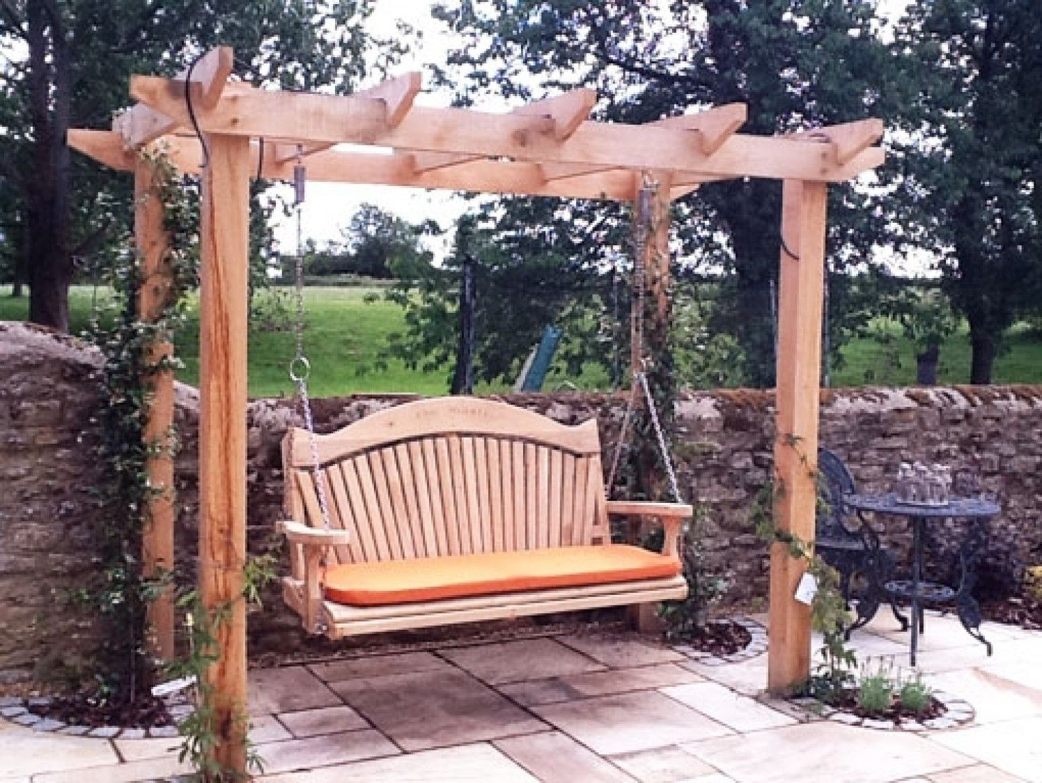 Quality Wooden Swing Seat And Pergola | Outdoor Pergola Within 3 Seat Pergola Swings (View 12 of 25)