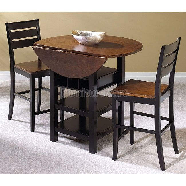 Quincy Counter Height Dinette In 2019 | Pub Table Sets Intended For Transitional 3 Piece Drop Leaf Casual Dining Tables Set (View 14 of 25)