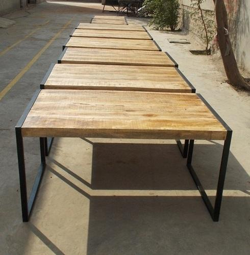 Reclaimed Mango Wood Dining Table With Metal Legs – Garud For Iron Dining Tables With Mango Wood (View 23 of 25)