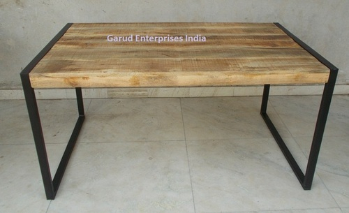 Reclaimed Mango Wood Dining Table With Metal Legs – Garud For Iron Wood Dining Tables With Metal Legs (View 8 of 25)