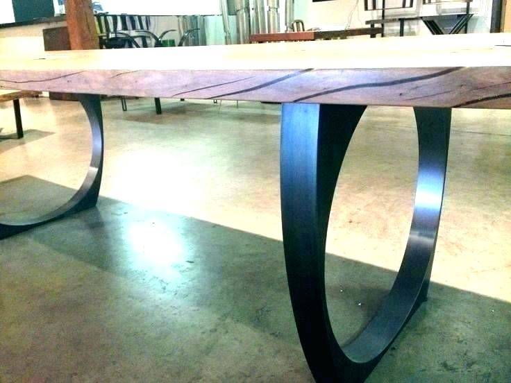 Reclaimed Wood Dining Table Metal Legs And Tables Surprising In Iron Wood Dining Tables With Metal Legs (View 18 of 25)
