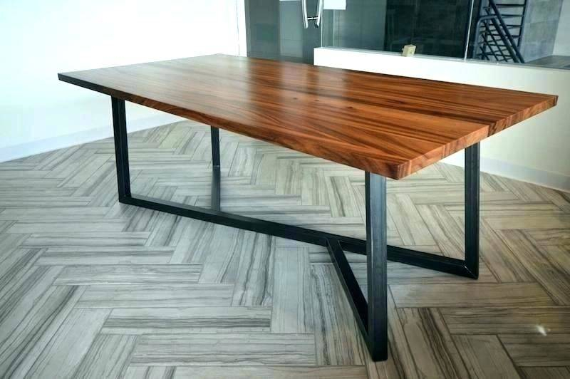 Reclaimed Wood Dining Table Metal Legs Round Wooden Black Pertaining To Iron Wood Dining Tables With Metal Legs (View 9 of 25)