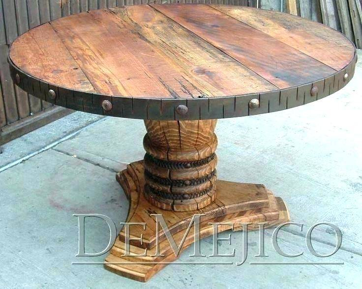 Reclaimed Wood Dining Table Seats Surprising Kitchen Within Small Round Dining Tables With Reclaimed Wood (View 19 of 25)