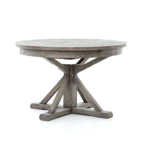 Reclaimed Wood Round Dining Table And Chairs Set Expandable Within Small Round Dining Tables With Reclaimed Wood (View 21 of 25)