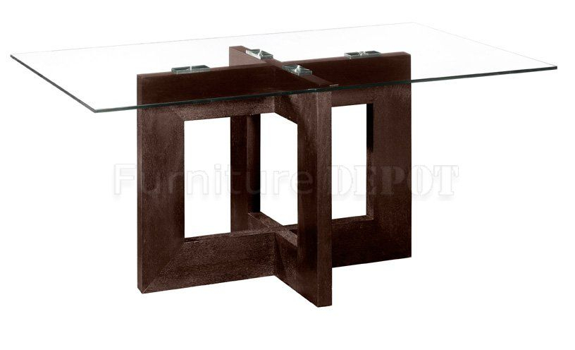 Rectangular Contemporary Glass Dinning Table | Rectangular Intended For Rectangular Glass Top Dining Tables (View 10 of 25)