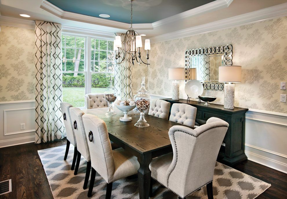 Rectangular Dinding Table Dining Room Transitional With Within Transitional Rectangular Dining Tables (View 9 of 25)