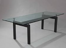 Rectangular Dining Table With Black Lacquered Steel Frame Inside Steel And Glass Rectangle Dining Tables (View 19 of 25)