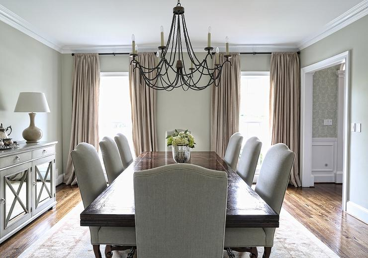 Rectangular Dining Table With Gray Linen Camelback Dining With Transitional Rectangular Dining Tables (View 7 of 25)