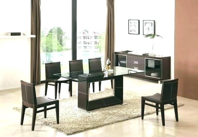 Rectangular Glass Dining Table With Wood Base – Otomientay Inside Smoked Oval Glasstop Dining Tables (View 16 of 25)