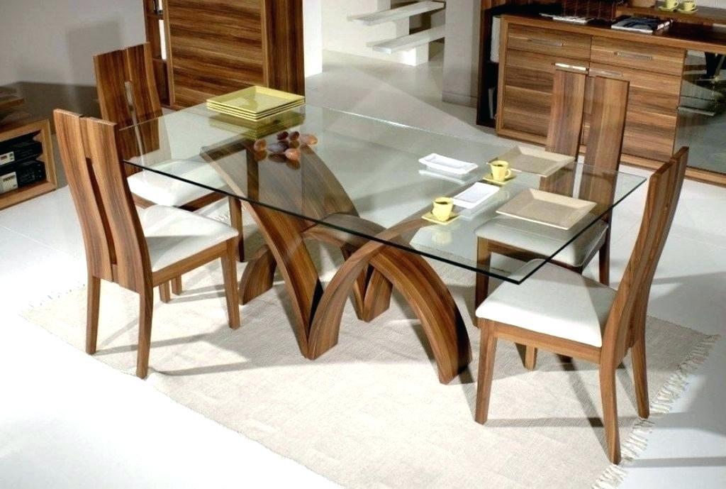 Rectangular Glass Top Dining Table – Felisatrask (Image 21 of 25)