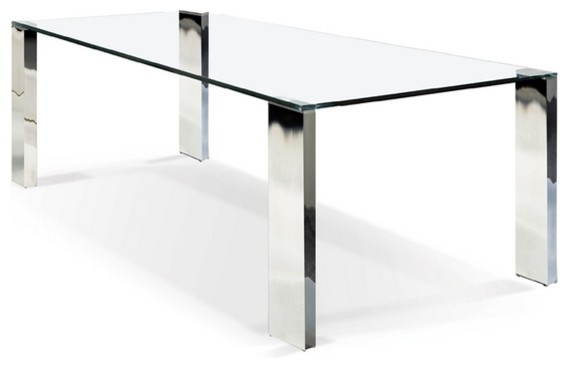 Rectangular Glass Top Dining Table Inside Rectangular Glass Top Dining Tables (View 8 of 25)