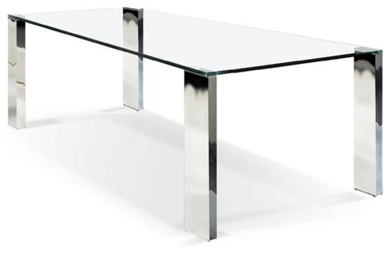 Rectangular Glass Top Dining Table Pertaining To Rectangular Glasstop Dining Tables (Image 23 of 25)