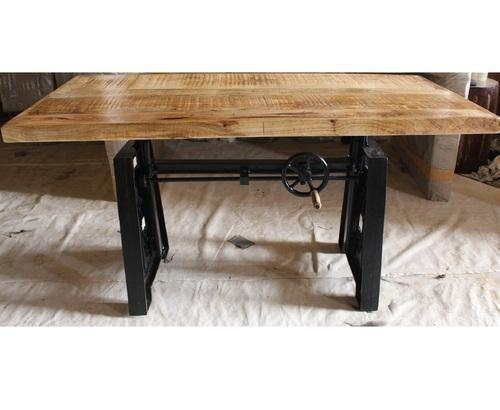 Rectangular Industrial Mango Wood Dining Table At Best Price Intended For Iron Dining Tables With Mango Wood (View 16 of 25)