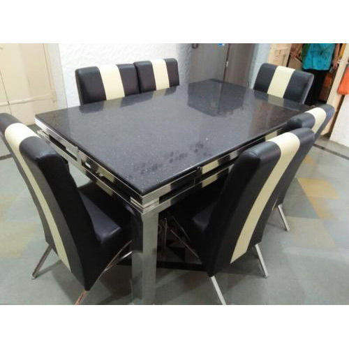 Rectangular Stainless Steel Dining Table Set Within Steel And Glass Rectangle Dining Tables (View 15 of 25)