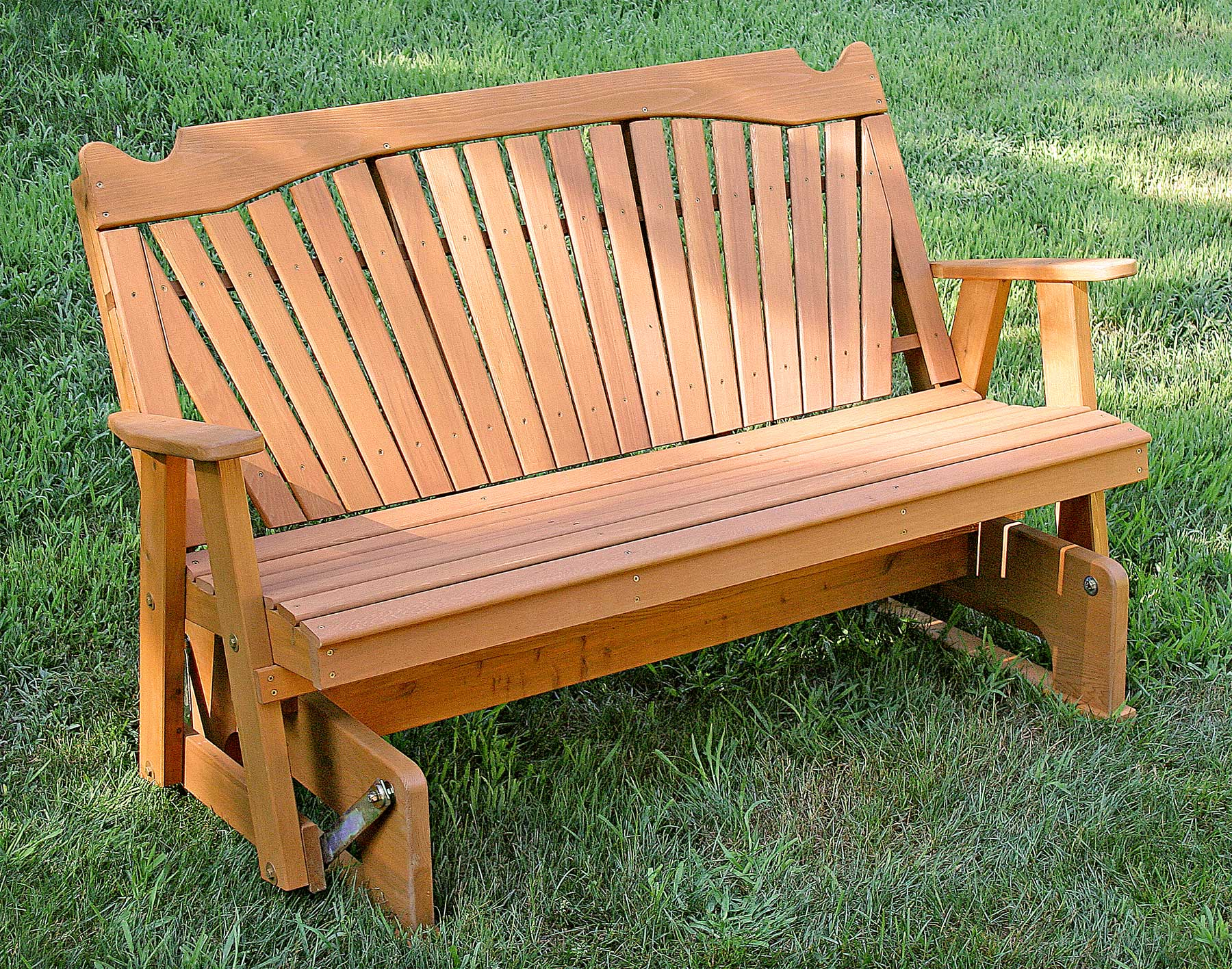 Red Cedar Classic Fanback Glider Pertaining To Fanback Glider Benches (View 15 of 25)