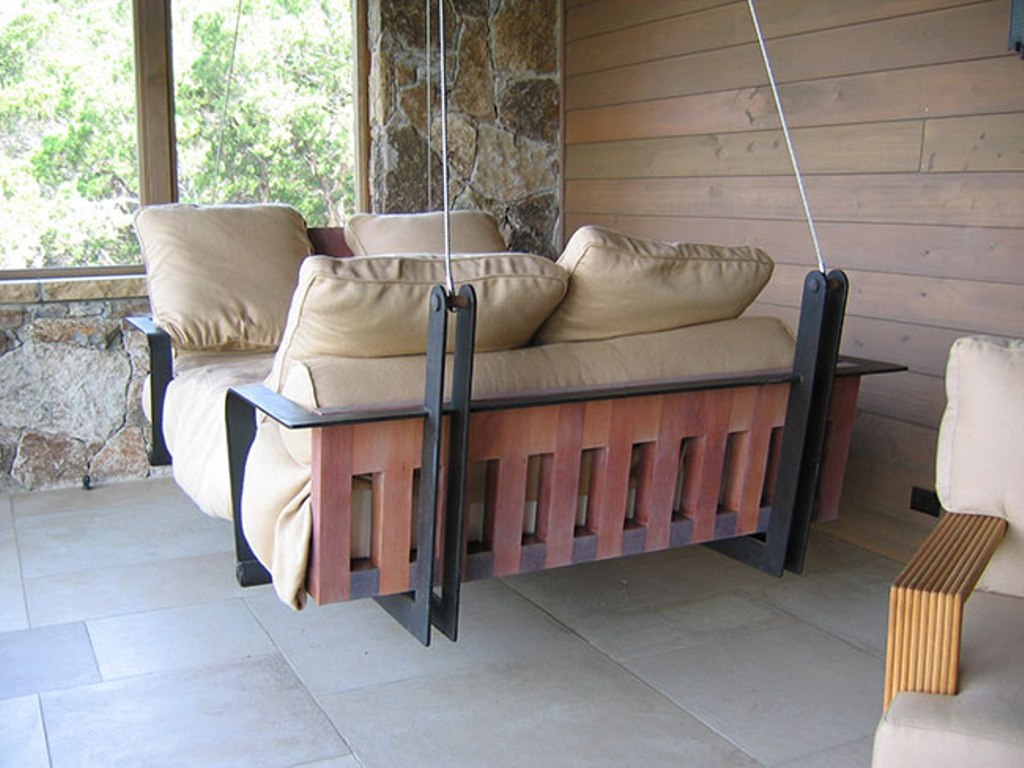 Relaxing And Wooden Wicker Porch Swing — Best Room Design Within Nautical Porch Swings (View 19 of 25)