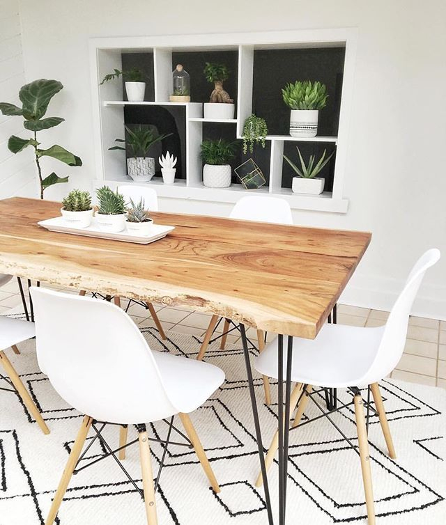 Reno Natural Solid Acacia Wood Dining Table 180Cm | Struct Within Acacia Dining Tables With Black Legs (View 15 of 25)