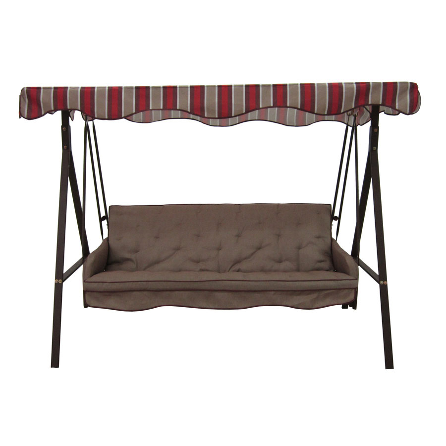 Replacement Canopy For Lowes 3 Person Swing – Brown Garden Winds For 3 Person Outdoor Porch Swings With Stand (View 25 of 25)