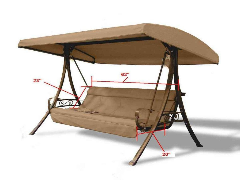 Replacement Cushions For Patio Swing | Patio Swing Within Patio Gazebo Porch Canopy Swings (View 23 of 25)