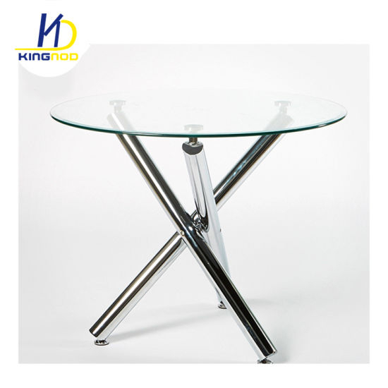 Replica Best Selling Glass Top Dining Table With Chromed Leg With Eames Style Dining Tables With Chromed Leg And Tempered Glass Top (View 5 of 25)