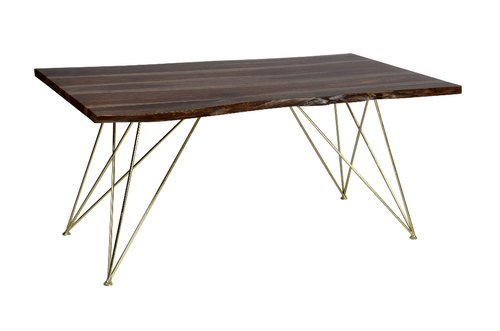 Restaurant Table – Mid Century Modern Dining Table Inside Acacia Wood Top Dining Tables With Iron Legs On Raw Metal (Image 22 of 25)
