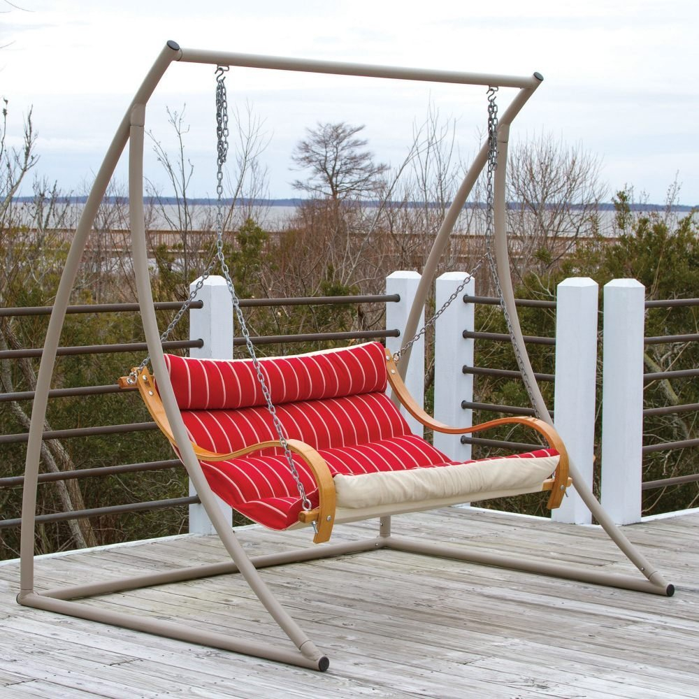 Review: The 7 Best Patio And Porch Swing Stands – Wooden And For Porch Swings With Stand (View 8 of 25)