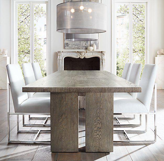 Rh Modern's Seagram Rectangular Dining Table:with Its For Rectangular Dining Tables (View 12 of 25)