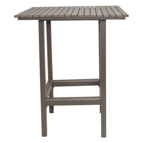 Riviera Outdoor Square Faux Wood Bar Table, White New Inside Patio Square Bar Dining Tables (View 18 of 25)