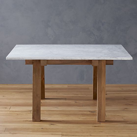 Riviera Square Marble Top Dining Table In Dining Tables Intended For Wood Top Dining Tables (View 10 of 25)