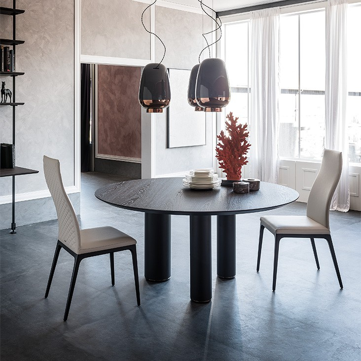 Roll Wood Round Dining Table, Cattelan Italia – Neo Furniture Pertaining To Neo Round Dining Tables (Image 16 of 25)