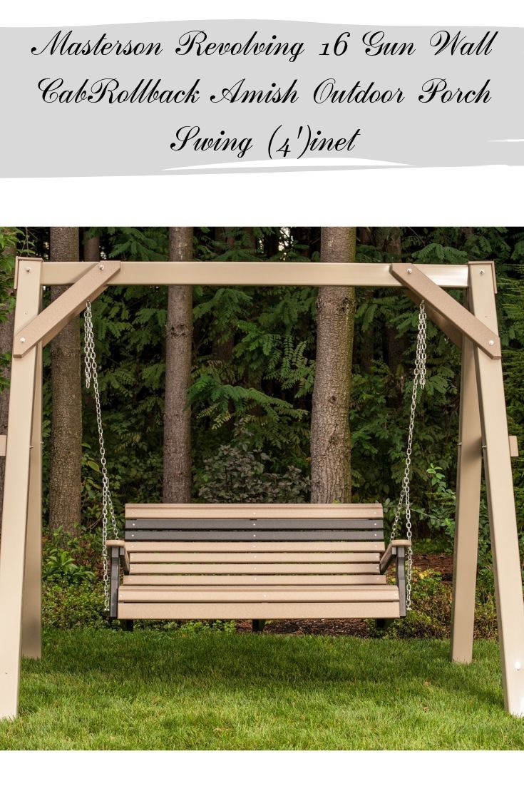 Rollback Amish Outdoor Porch Swing (4') | Porch Swings Throughout Outdoor Porch Swings (View 5 of 25)