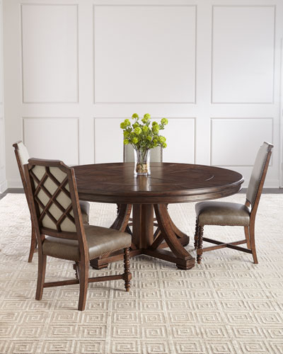 Round Dining Table Furniture | Horchow Within Neo Round Dining Tables (Image 20 of 25)